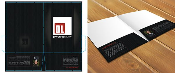 Inside View Two Pocket Folder Mockup PSD Template Example 1