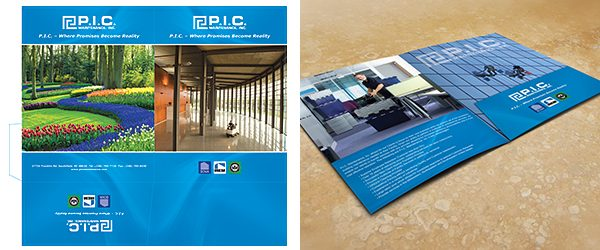 Inside View Two Pocket Folder Mockup PSD Template Example 2