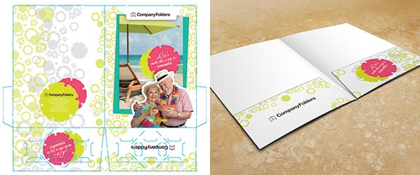 Inside View Two Pocket Folder Mockup PSD Template Example 3