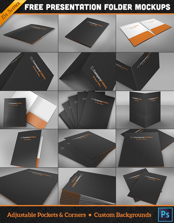 17 free presentation folder mockup psd templates