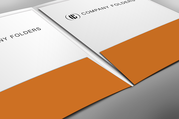 Close-Up Pocket Folder Mockup Template