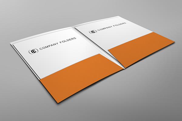 Low Angle Folder Mockup Template