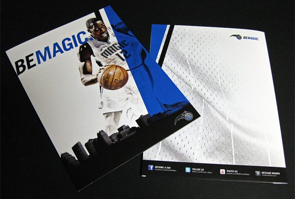 Orlando Magic Pocket Folder (Front and Back View)