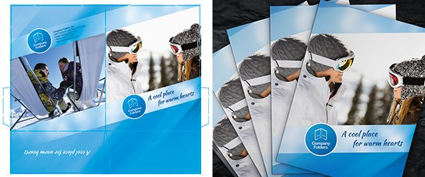 Stacked Presentation Folders Mockup PSD Template Example 1
