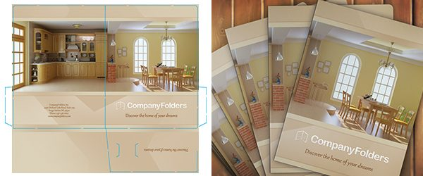 Stacked Presentation Folders Mockup PSD Template Example 2