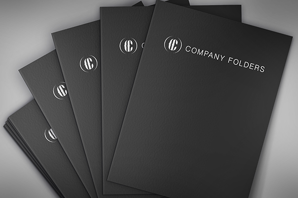 Stacked Presentation Folders Mockup Template