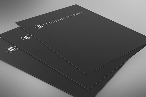 Stacked Low Angle Folder Mockup Template