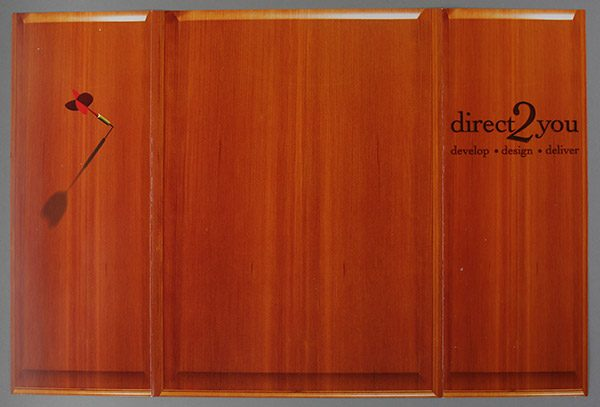 Direct 2 You Marketing Tri-Panel Folder (Back Open Flat View)