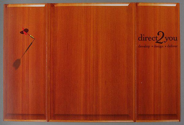 Direct 2 You Marketing Tri-Panel Folder (Back Open Flat View)