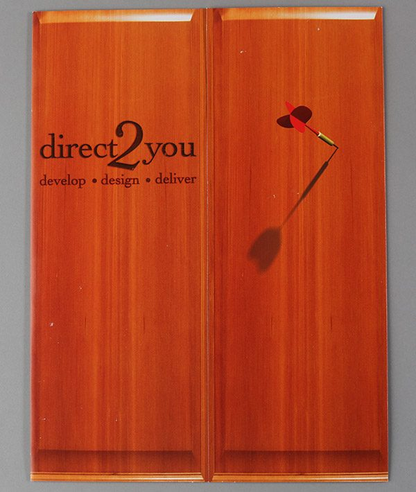 Direct 2 You Marketing Tri-Panel Folder (Front View)
