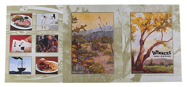 Winners Inn Casino Tri-Panel Folder (Back View Flat)