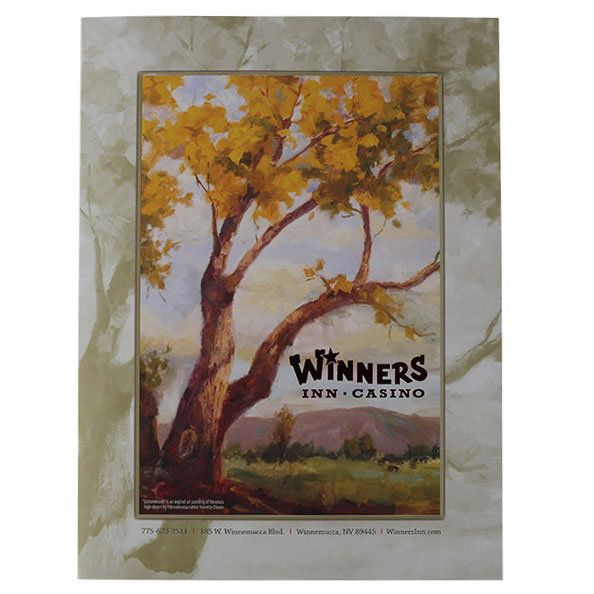 Winners Inn Casino Tri-Panel Folder (Front View)