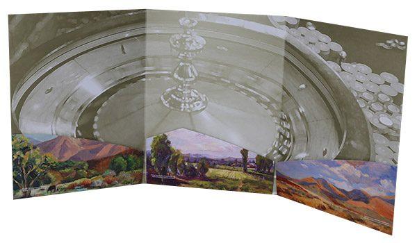 Winners Inn Casino Tri-Panel Folder (Inside View on Surface)