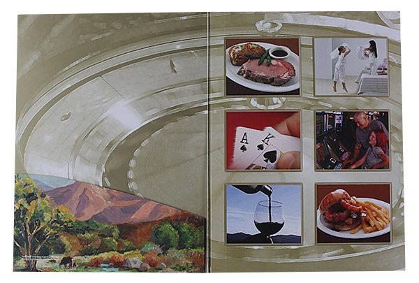 Winners Inn Casino Tri-Panel Folder (Left Panel View)