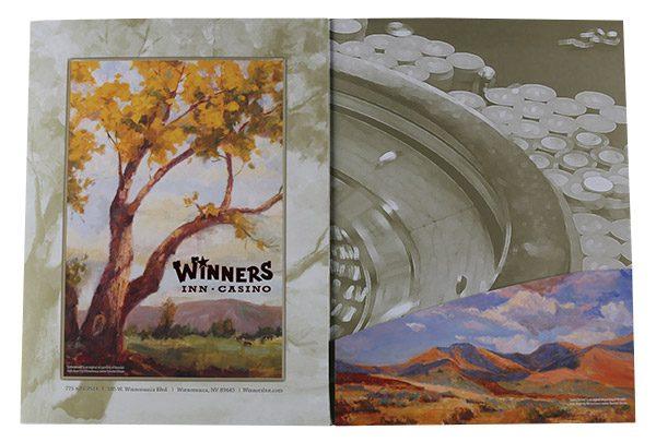 Winners Inn Casino Tri-Panel Folder (Right Panel View)