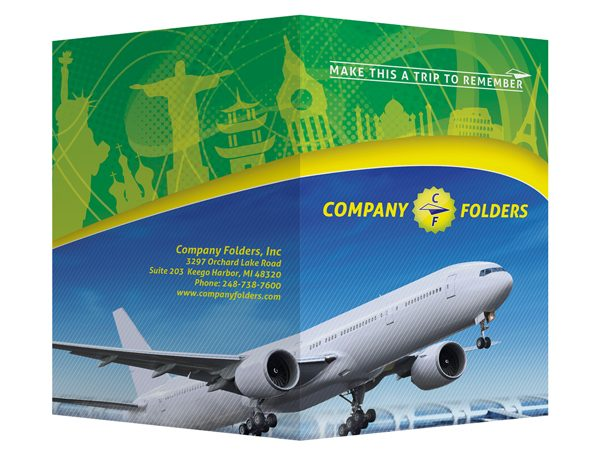 Trip to Remember Travel Pocket Folder Template (Front and Back View)