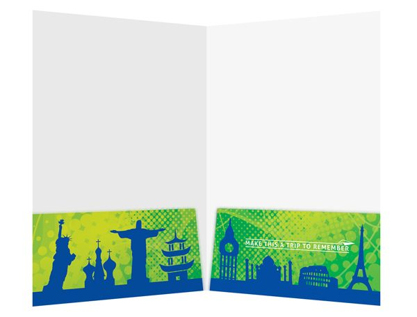 Trip to Remember Travel Pocket Folder Template (Inside View)