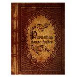 Antique Book Publisher Presentation Folder Template