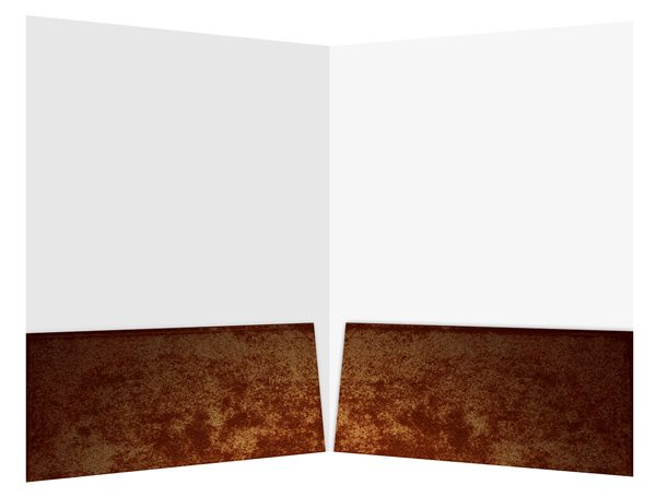 Antique Book Publisher Presentation Folder Template (Inside View)