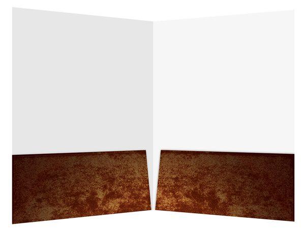 Antique Book Publisher Presentation Folder Template (Inside View)