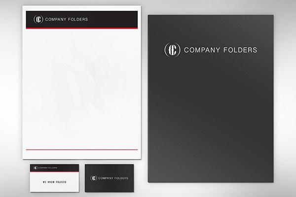 Folder Letterhead Business Card Mockup Template