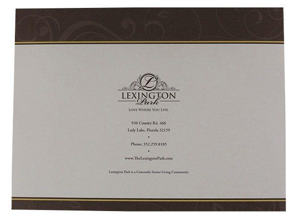 Lexington Park Retirement Community Folder (Back View)
