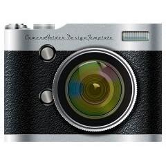 Camera Pocket Folder Design Template (Front View)