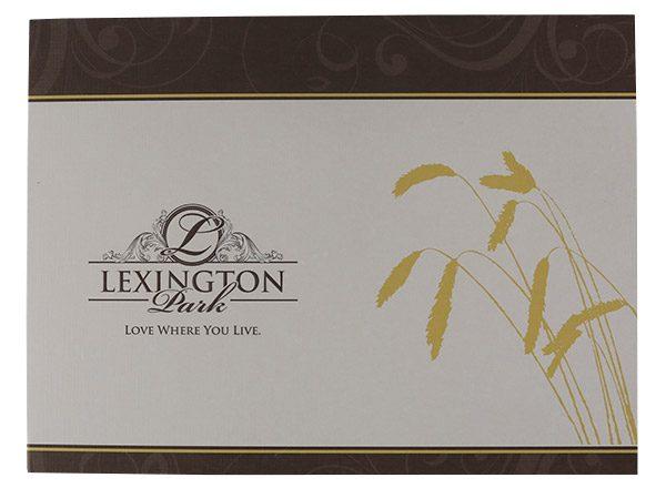Lexington Park Retirement Community Folder (Front View)