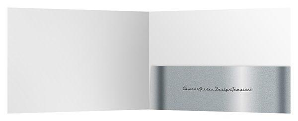 Camera Pocket Folder Design Template (Inside View)