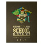 School District Pocket Folder and Business Card Template