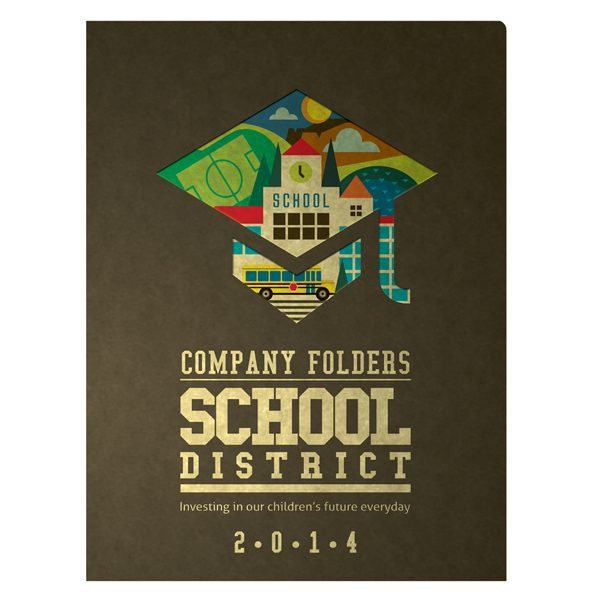 school district pocket folder design template [free psd], Presentation templates