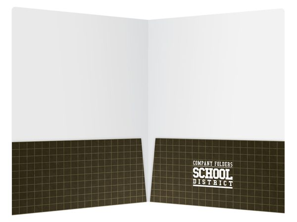 School District Illustrated Folder Template (Inside View)