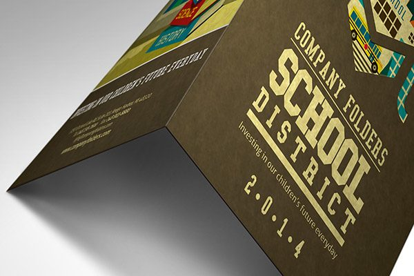 School District Illustrated Folder Template (Lower Tent View)