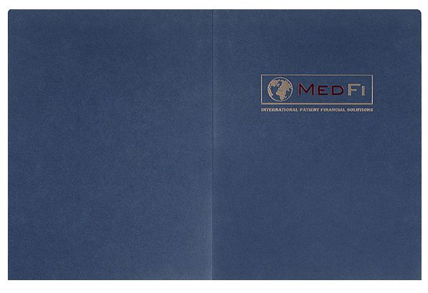 MedFi International Pocket Folder (Front and Back Flat View)