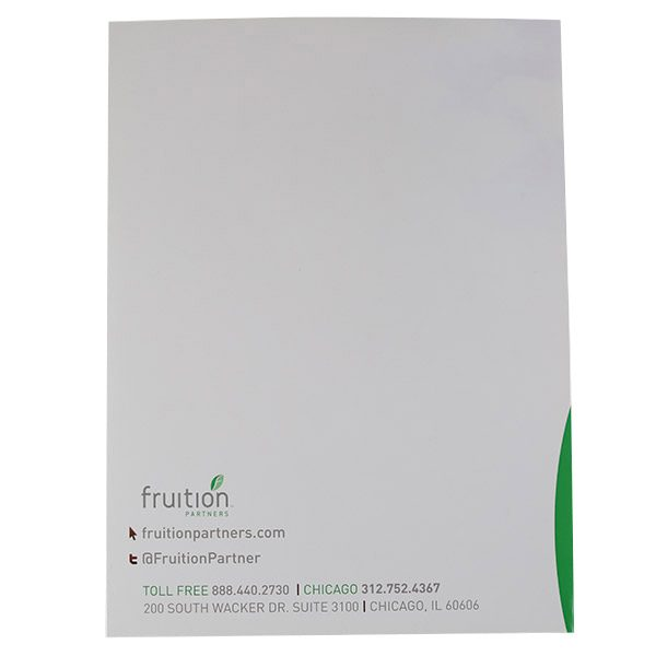 Fruition Partners Technology Pocket Folder (Back View)