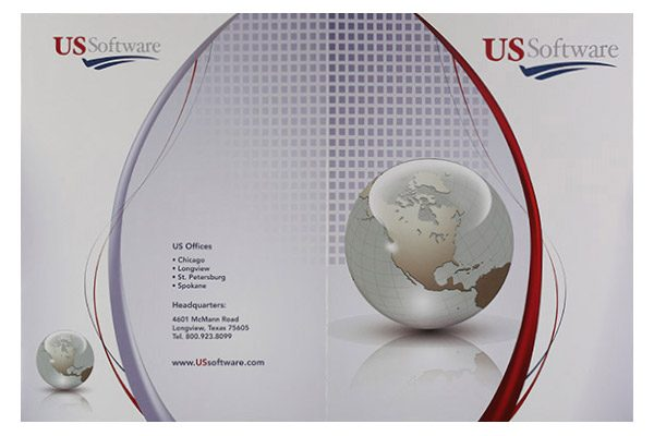 US Software Pocket Folder (Front and Back Flat View)