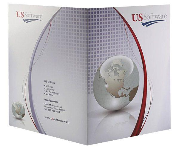 US Software Pocket Folder (Front and Back View)