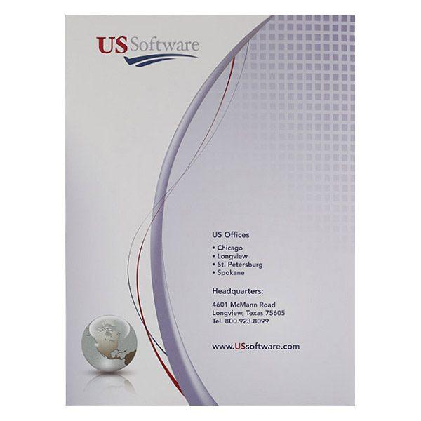 US Software Pocket Folder (Back View)