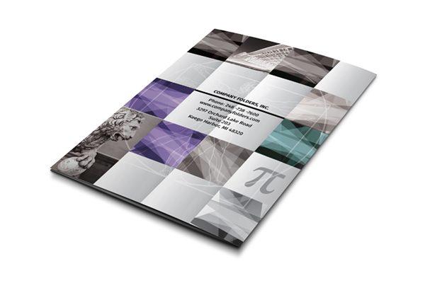 Architecture Ideas Pocket Folder Template (Back View)