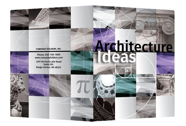 Architecture Ideas Pocket Folder Template (Front and Back View)