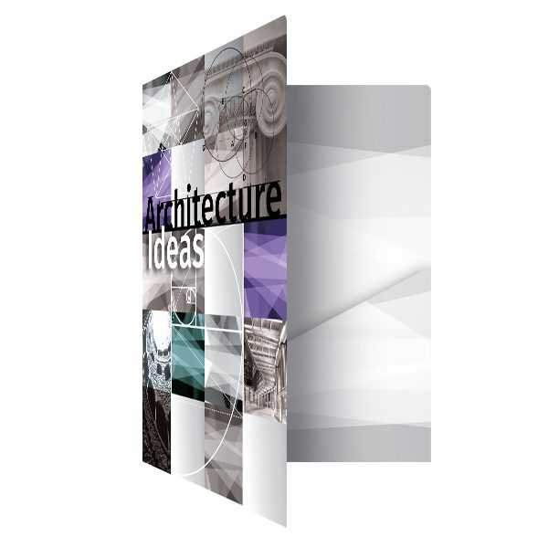 Architecture Ideas Pocket Folder Template (Front Open View)