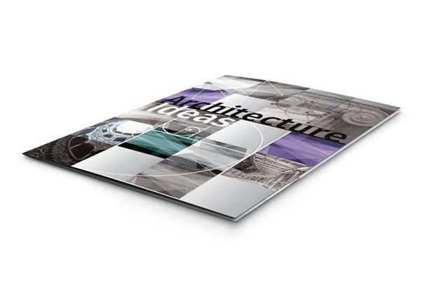 Architecture Ideas Pocket Folder Template (Front View on Surface)