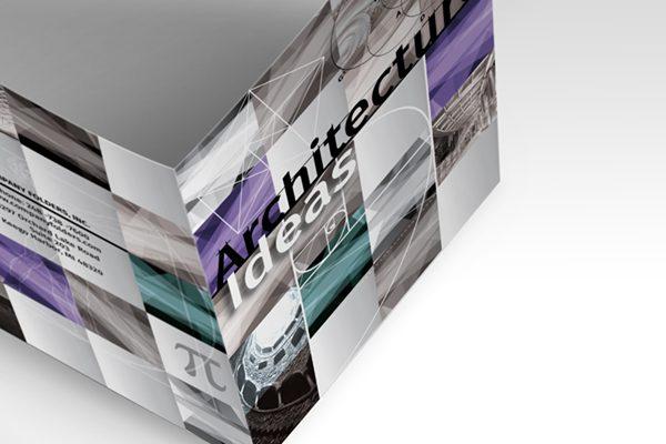 Architecture Ideas Pocket Folder Template (Open Overhead View)