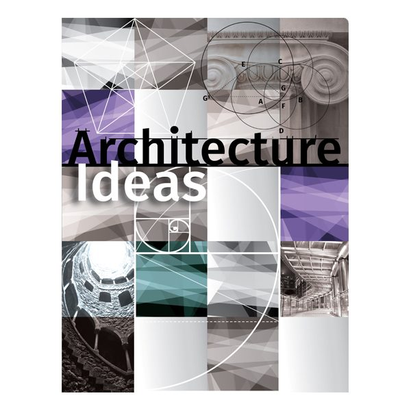 architecture ideas pocket folder design template, Powerpoint templates