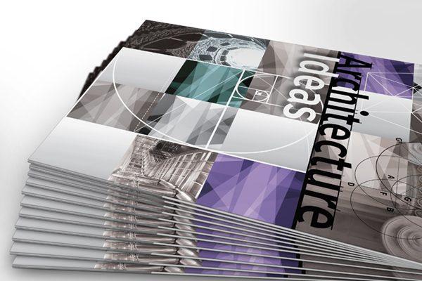 Architecture Ideas Pocket Folder Template (Stacked Side View)