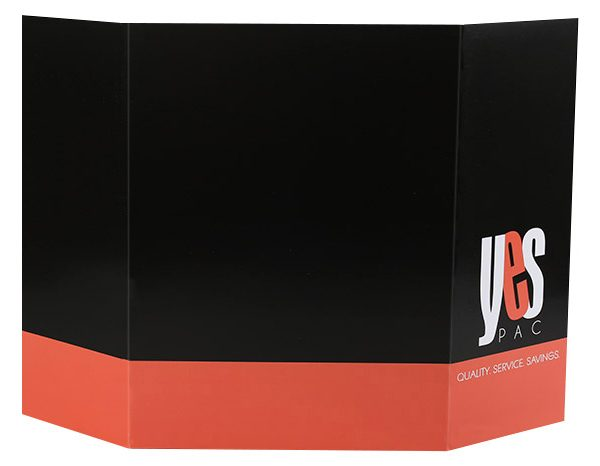 YesPac Manufacturing Gatefold Pocket Folder (Back Open View)