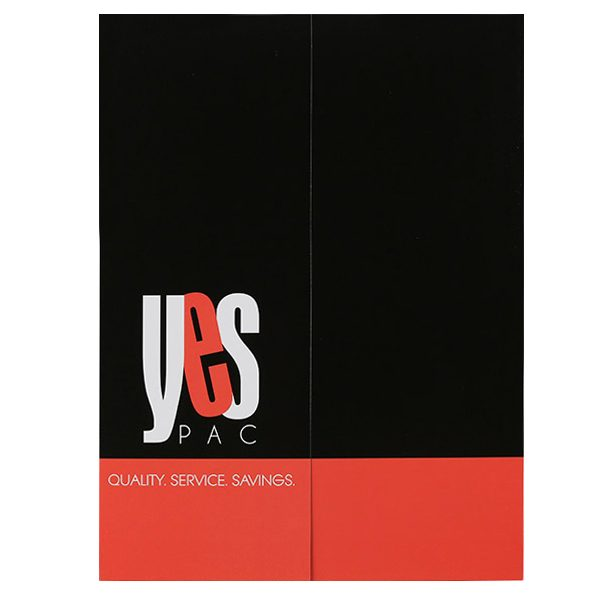 YesPac Manufacturing Gatefold Pocket Folder (Front View)