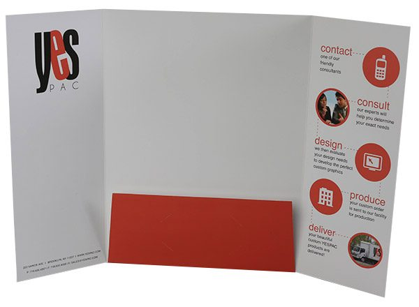 YesPac Manufacturing Gatefold Pocket Folder (Inside Open View)