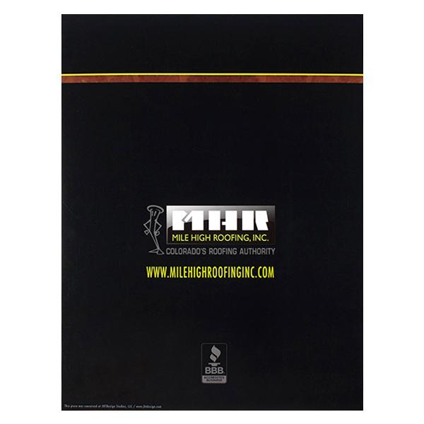 Mile High Roofing Inc Pocket Folder Design