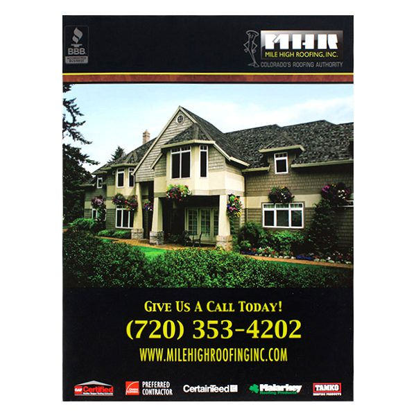 Mile High Roofing Inc. Pocket Folder (Front View)